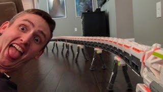 WORLD'S LONGEST NERF BLASTER 2.0! 40+ BARRELS!