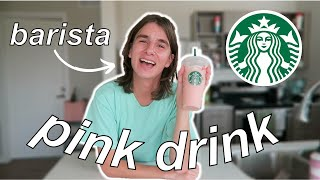 How To Make A Starbucks Pink Drink At Home // by a barista