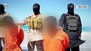 Группировка ИГИЛ опубликовала видео массового убийства христиан(Группировка ИГИЛ распространила видеозаписи с массовым убийством 30 человек. Радикальные исламисты утверж..., 2015-04-20T05:51:12.000Z)