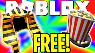 *NEW* ROBLOX PROMO CODES PHARAOH OF THE SUN | SHOWTIME BLOXY POPCORN HAT