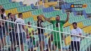 Бурна радост за гостите след автогол на Стоичков