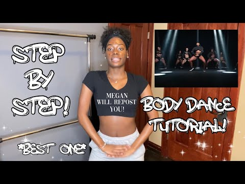 Megan Thee Stallion- BODY DANCE CHALLENGE! (Tutorial) STEP BY STEP! BEST ONE! #tiktok #goodnewsmegan