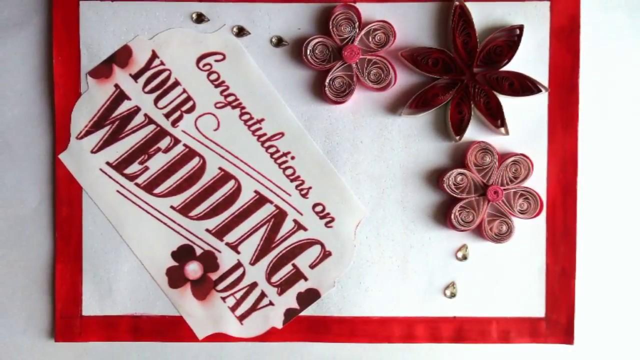 DIY Wedding Congratulations Card YouTube