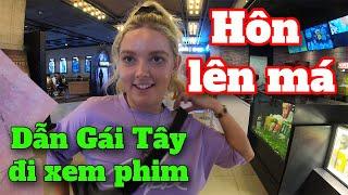 Dẫn GÁI TÂY đi xem PHIM và được HÔN LÊN MÁ - Watched the movie with girl Manchester - Hieu Channel
