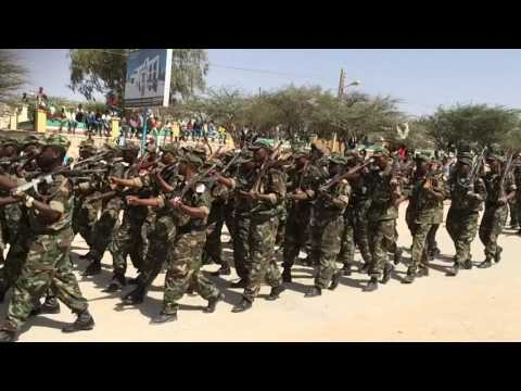 Somaliland military marching (in slow motion)