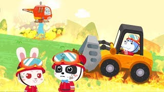 Panda's brave rescue team - Mission to extinguish the great fire in the forest