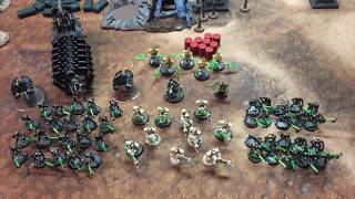 Dark Eldar vs Necrons 8th edition warhammer 40k battle report