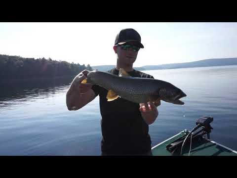 Quabbin Reservoir Lake Trout - INSANE Action