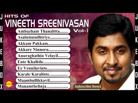 Hits of Vineeth Sreenivasan Vol -1 | Malayalam Film Songs