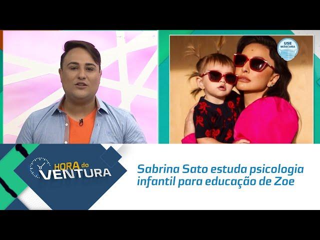 Sabrina Sato estuda psicologia infantil para educação de Zoe