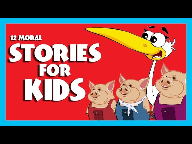 STORIES for KIDS (12 Moral Stories) | Lion and Mouse & more