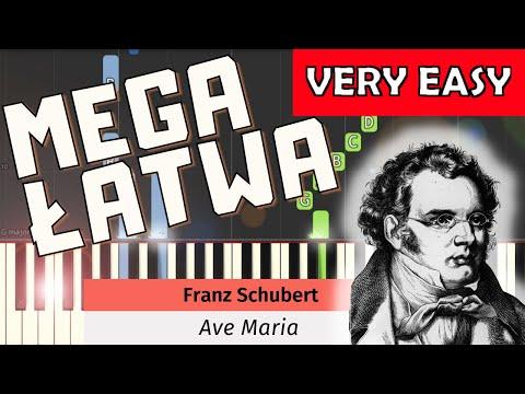 🎹 Ave Maria (F. Schubert) - Piano Tutorial (MEGA ŁATWA wersja) (VERY EASY) 🎹