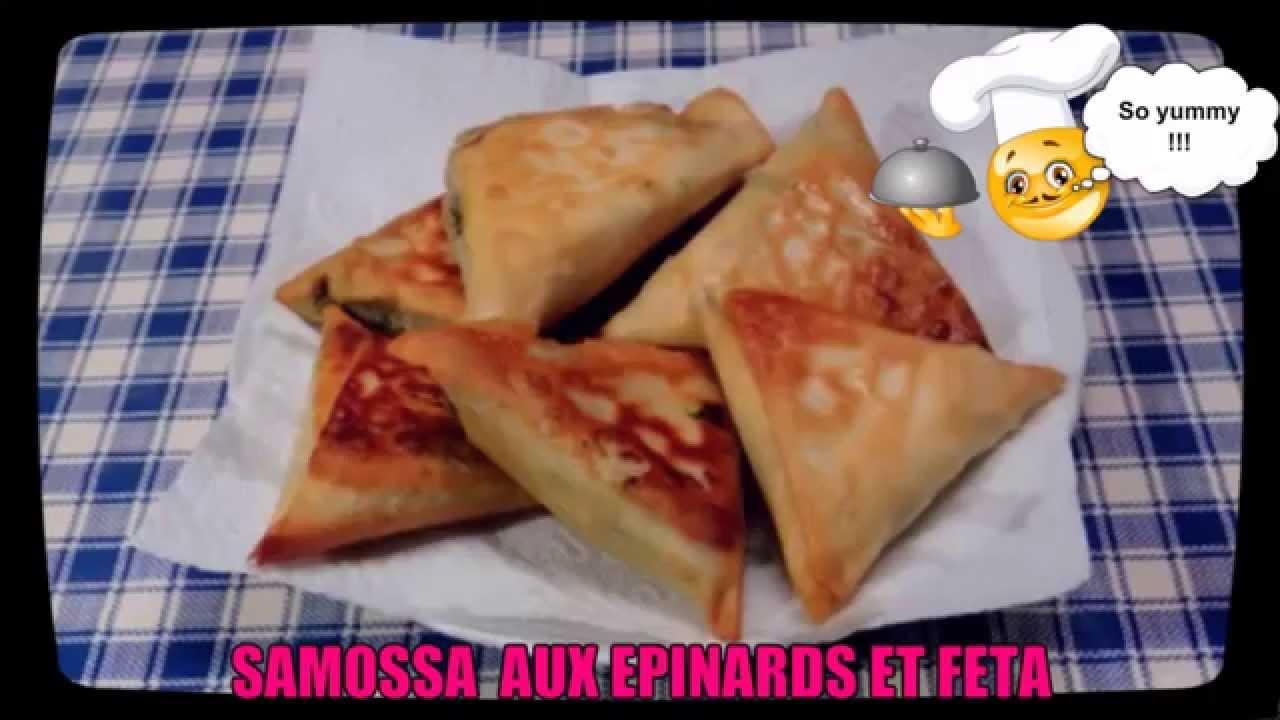 Samossas Aux Epinards Et Feta Spinach Feta Samosas Recipes