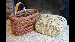 """♻ Плетение корзинки с овальным дном в стиле """"буркина фасо""""  ♻"""