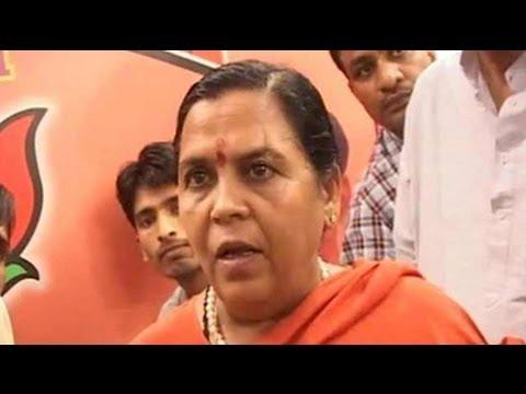 Arrest us and see what happens, BJP's Uma Bharti warns Akhilesh Yadav