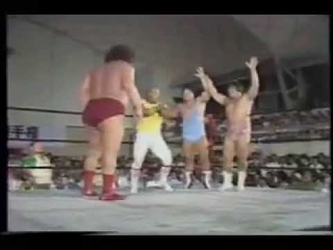Andre The Giant & Haystacks Calhoun in a rare team up in a match (Last Few Mins of match)