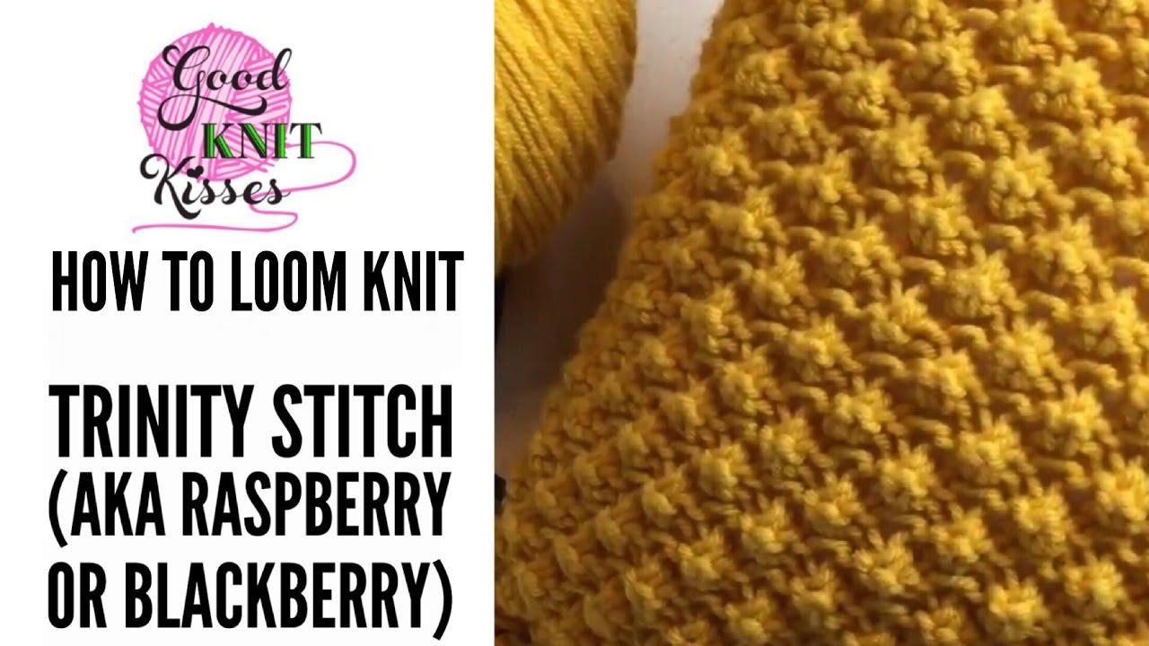 Raspberry Stitch Needle And Loom Knit Stitches Goodknit Kisses