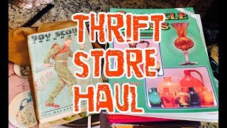 Thrifted Books // Heager Pottery // Art Glass // Vintage BOY SCOUTS // Thrifting for Profit