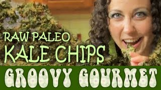 Vegan Raw Paleo Cheesy Kale Chips Recipe - Groovy Gourmet