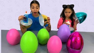 Don't Choose the Wrong Surprise Egg Glue Slime Challenge