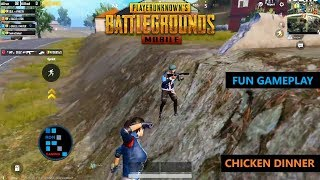 [Hindi] PUBG MOBILE | FUN GAMEPLAY WITH AMAZING CHICKEN DINNER