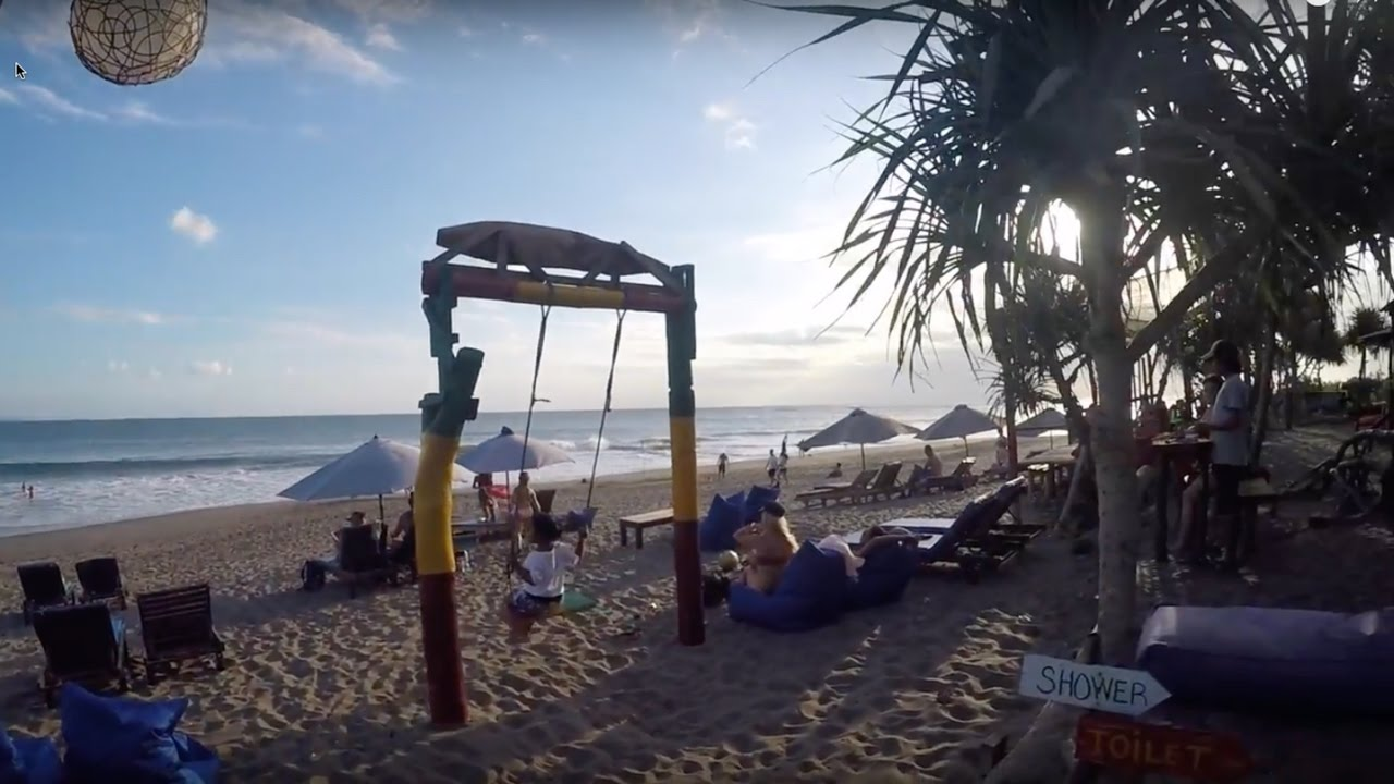 Hidden Beach Bar in Canggu, Bali - YouTube