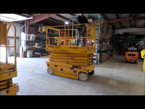 2006 haulotte 3347e scissor lift for sale at auction bidding rh youtube com