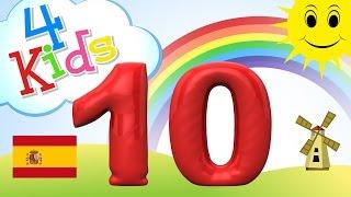 Aprender contar los números de uno a diez - para niños y bebés (español)