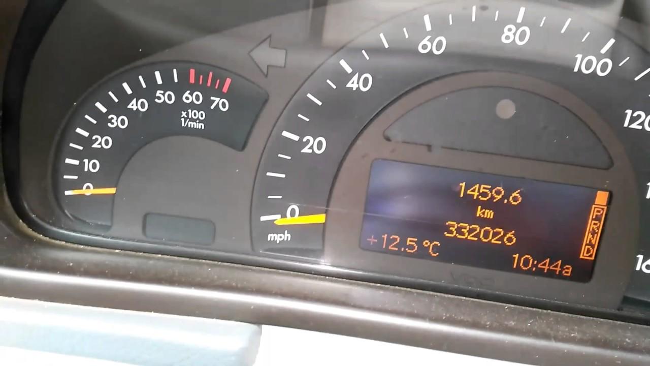 Mercedes W203 C240 start problem