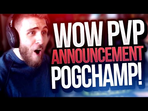 WOW PVP ANNOUNCEMENT! AWESOME NEWS!