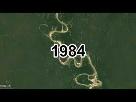 Evolution of a river, 33 year timelapse of the Ucayali river