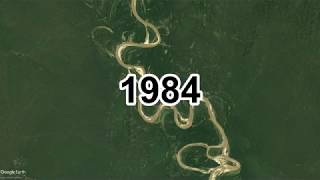 33 year evolution of the Ucayali river - Satellite Timelapse