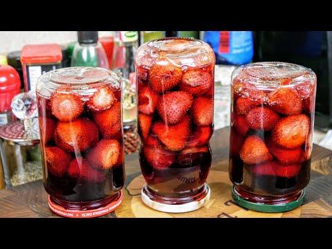 КЛУБНИКА в сиропе. ВАРЕНЬЕ без варки ягод, цыганка готовит.