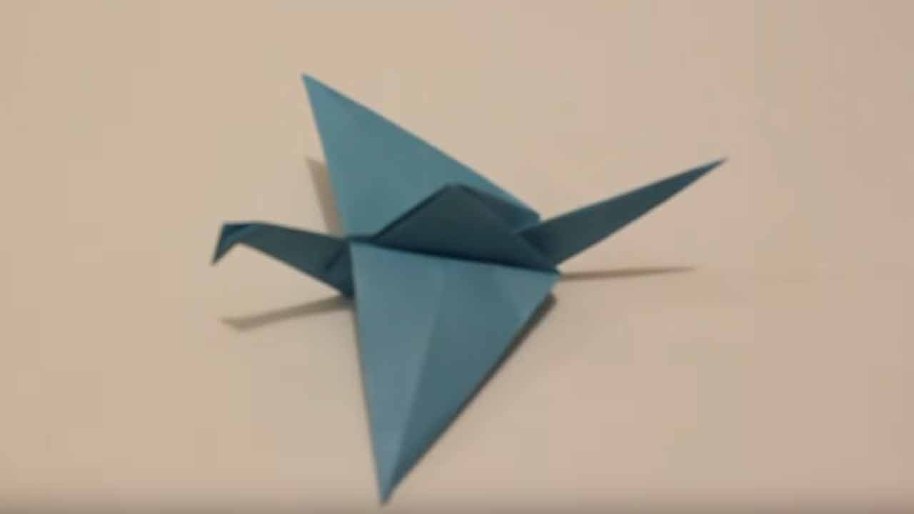 flapping bird origami - Google Search | Origami crane tutorial ... | 720x1280