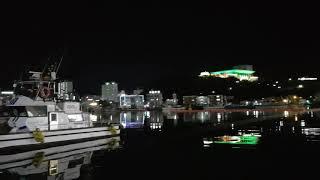 통영 여객 터미널 앞 밤바다
