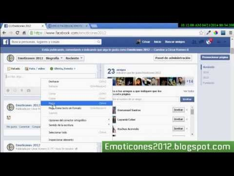 Como Utilizar Emoticones Emoji En Facebook- Estados Y Comentarios De Perfiles, Páginas Y Grupos