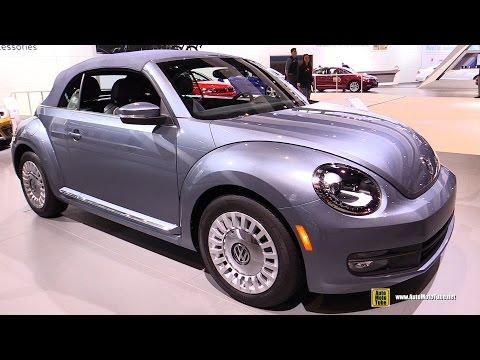 2017 Volkswagen Beetle Denim Convertible -Exterior Interior Walkaround -2016 Chicago Auto Show