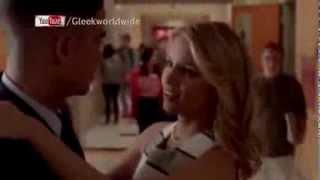 Glee - 100 - Brittany & Santana Kiss. Puck & Quinn Kiss