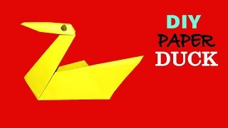 How To Make An Origami Paper Duck Easy - DIY Paper Folding Duck Craft