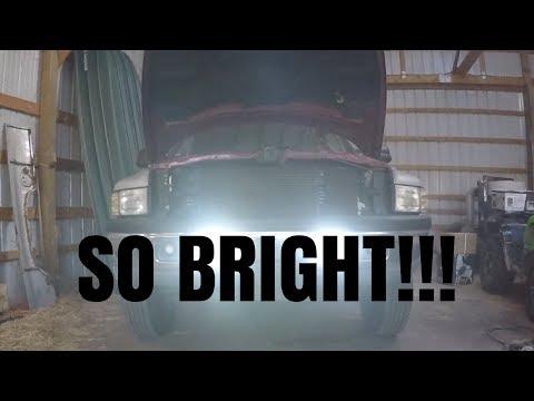 NEW INSANE LIGHTING UPGRADE FOR THE NASTY RED 12 VALVE CUMMINS!!!