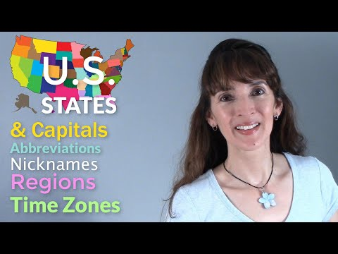 U.S. States, Capitals, Regions & Time Zones - Learn them all!