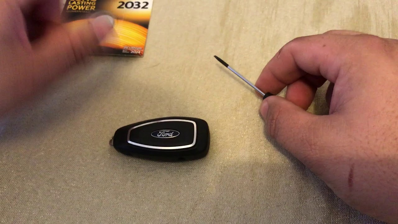 Ford Fiesta St180 Key Fob Battery Replacement Youtube