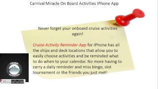 Carnival Miracle | Onboard Cruise Activities | Iphone App