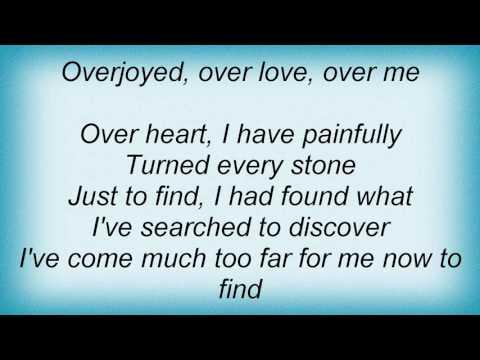 Stevie Wonder - Overjoyed Lyrics