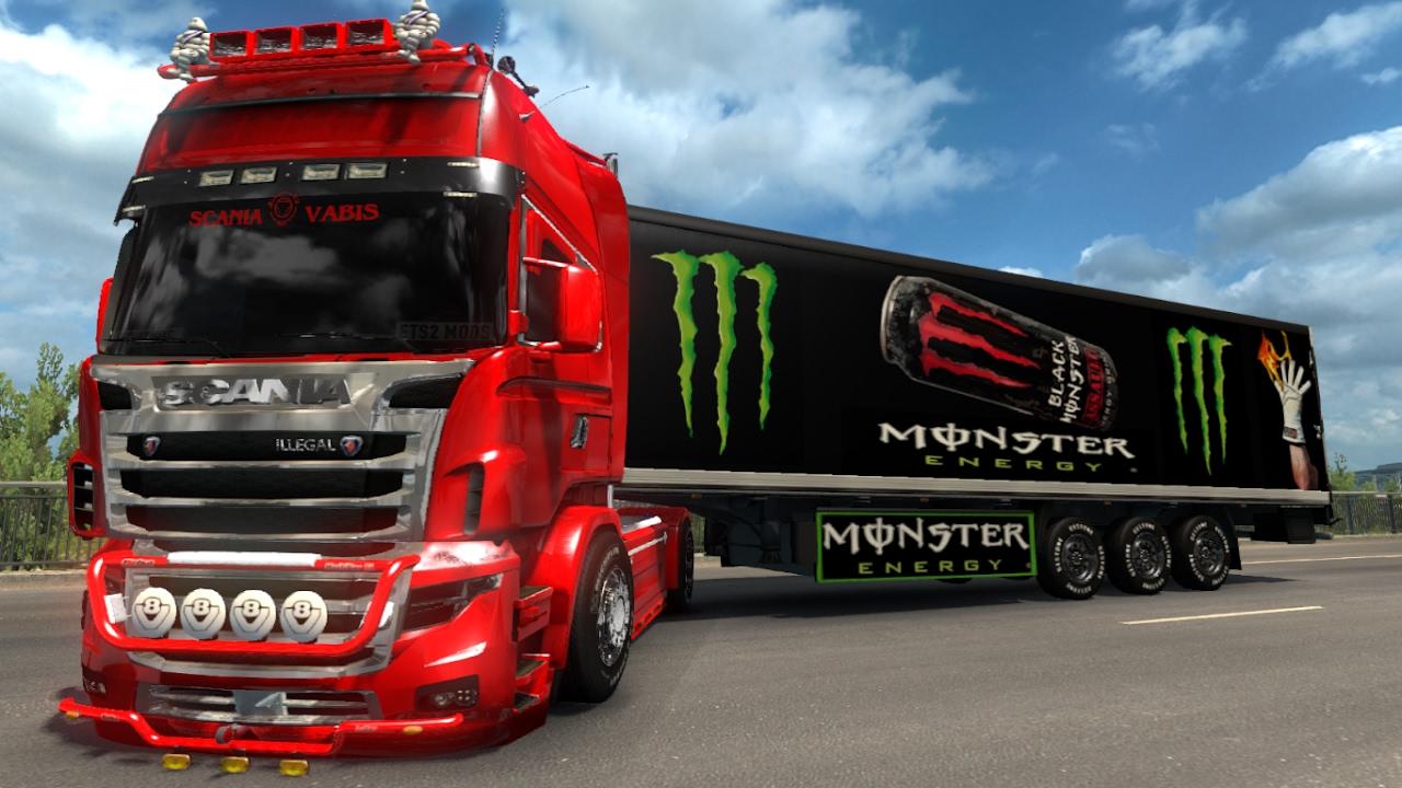 V8 illegal reworked truck v5 0 simulator games mods download - Scania Illegal V8 V5 0 Trailer Pack Energy Drink 1 26 Ets2 Euro Truck Simulator 2 Free Download Youtube