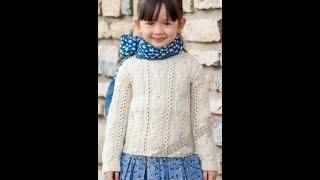 Вязание Джемпера Спицами для Девочки - 2018/ Knitting Sweaters for Girls/ Strickpullover für Mädchen