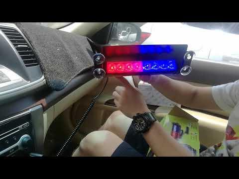 8 LED Car Dash Strobe Lights Flash Emergency Police Warning Lamp
