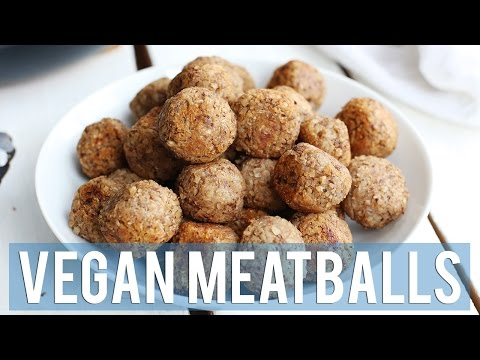2-Ingredient Vegan Meatballs | EASY + HEALTHY