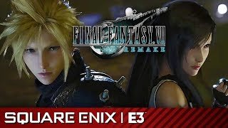 Final Fantasy VII Remake Full Gameplay Premiere Presentation | Square Enix E3 2019