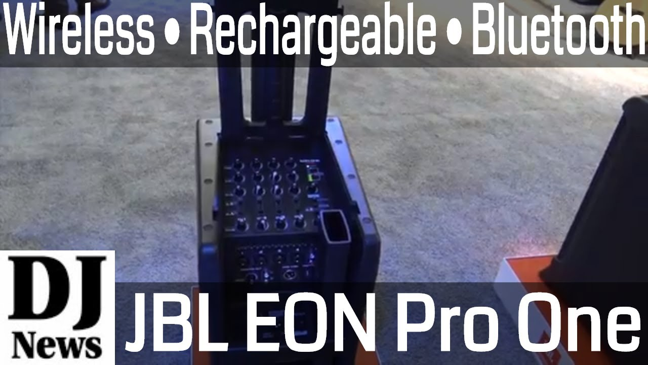 #TheJBLPro JBL Eon One Pro Battery Powered Bluetooth Dj Line Array  #NAMM2018 | Disc Jockey News